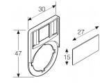 Шильдик (пластинка маркировочная) для устройств управления