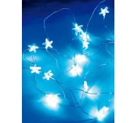 """Гирлянда светодиодная """"Голубые нити"""" 2м 20LED с насадками """"синие звездоки"""" син. работает от 3хАА Космос KOCNL-EL114_blue"""